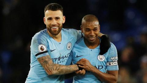 Man City on top of EPL after beating Everton 2-0