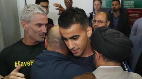 Bahraini refugee footballer returns to Australia after Thai detention