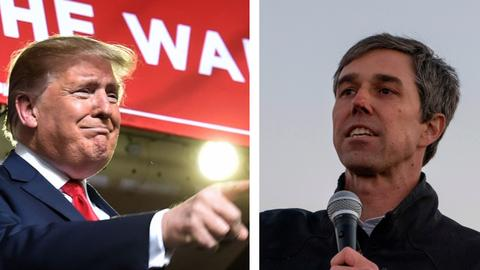 Texas showdown: O'Rourke, Trump hold duelling rallies over wall