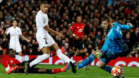 UCL last 16: PSG beat Man United, Roma thump Porto