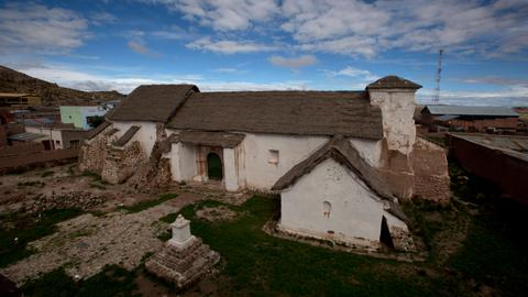 Neglect and rain threaten 'Sistine Chapel of the Andes'