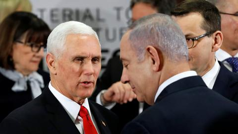 Pence calls on Europe to unite with US on Iran