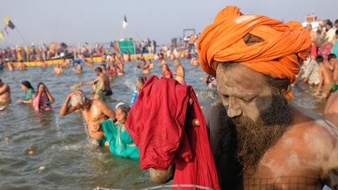 Split between Hindu godmen poses electoral threat to India's ruling BJP