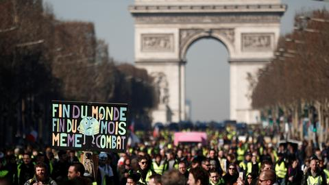 Scattered yellow vest protests against France's Macron continue