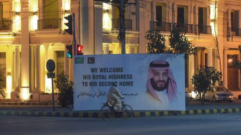 Saudi prince starts with Pakistan as he seeks deals, allies on Asia tour