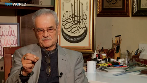 Syrian refugee artist pursues passion for calligraphy in Turkey