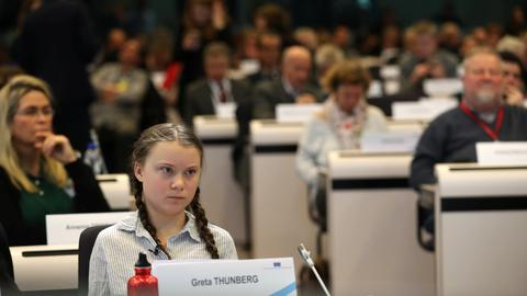 Climate activist Thunberg urges EU to double carbon reduction targets
