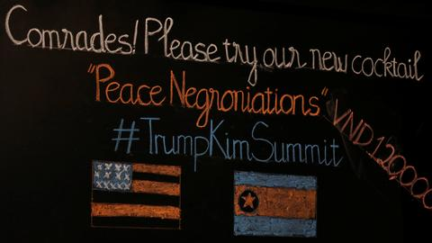 Bars in Vietnam serve 'Peace Negroniations' ahead of Trump-Kim summit