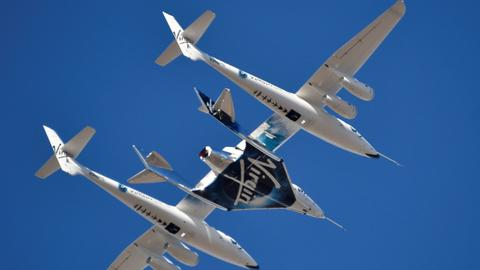 Virgin Galactic reaches space with first passenger on board
