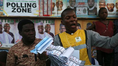 Nigeria counts votes as nation awaits election outcome