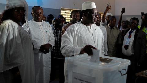 Senegal holds vote with president Sall tipped to win