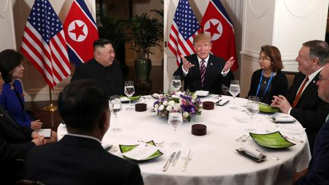 Trump, Kim share smiles, dinner before nuke talks