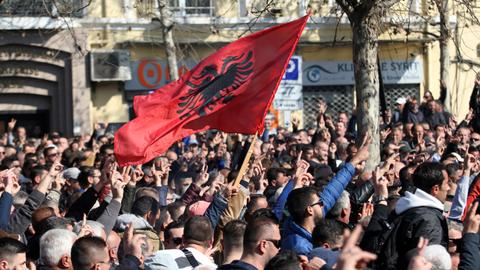 Albanian opposition stages protests against corruption