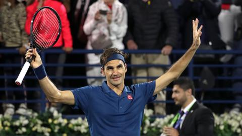 Federer into Dubai final, one win from 100th career title