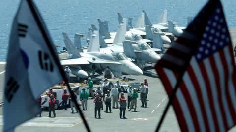 Why did the US and South Korea scale down joint military drills?