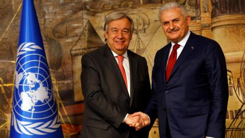 UN chief lauds Turkey for opening borders to refugees