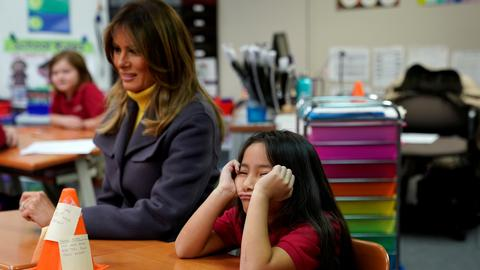 First lady Melania Trump visits FETO school in Oklahoma