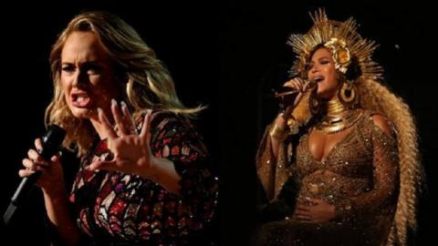 Adele and Beyonce take centre stage at Grammys