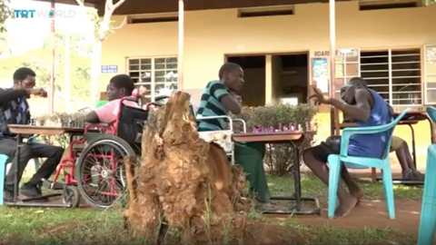 Uganda's chess school encourages disabled kids to thrive