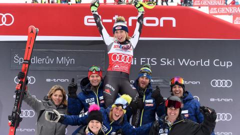 Skiing: Shiffrin breaks record for World Cup victories in season