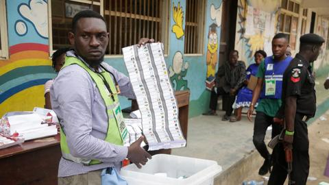 Nigerians vote for powerful governor posts amid unrest