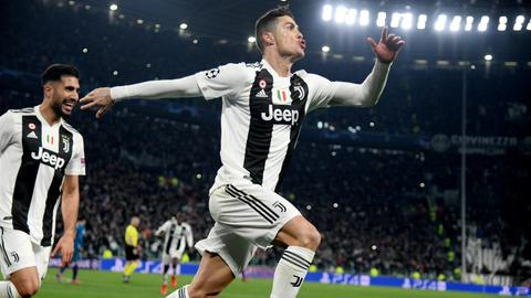 UCL: Cristiano Ronaldo hat-trick leads Juventus into quarters