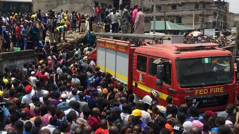Building collapses in Nigeria with 'at least 10 children' inside