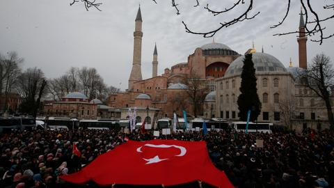 Protesters hold symbolic funeral in Istanbul for victims of NZ mosques