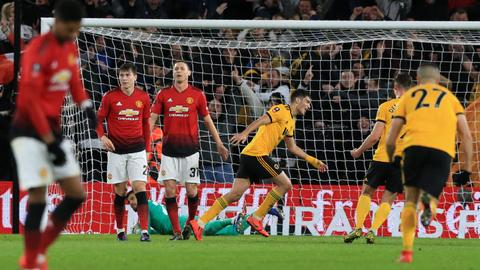 Wolves shock 'poor' Man United to reach FA Cup semis
