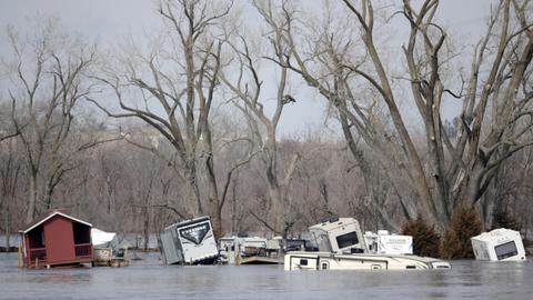 At least three dead after devastating floods across US Midwest