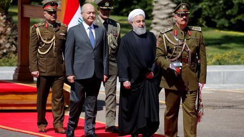 Rouhani goes to Iraq despite internal rivalries and external pressure