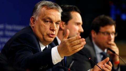 What does the suspension of Viktor Orban's party signify?