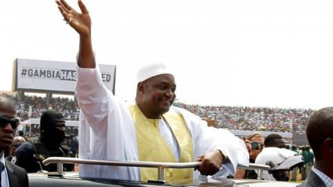 Gambia's Adama Barrow sworn in for a second time