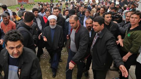 Iran president visits flood-hit zones as death toll hits 43