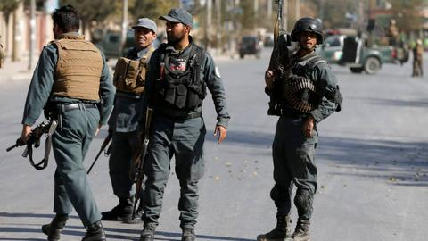 At least 17 Afghan policemen killed in Taliban attacks, officials say