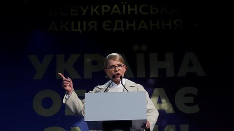 Former prime minister now a frontrunner in Ukraine elections