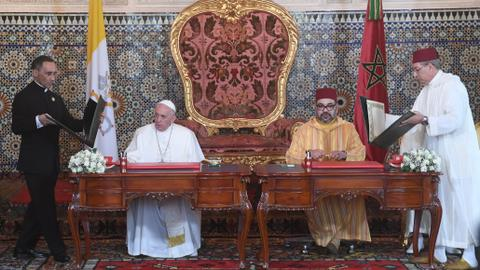 Pope says Jerusalem 'common patrimony' on Morocco trip