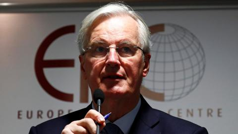 Barnier says chaotic Brexit becomes ever more likely