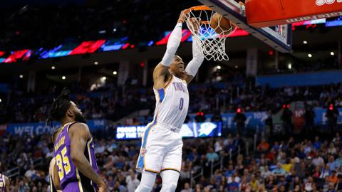 Westbrook becomes NBA's second 20-20-20 man