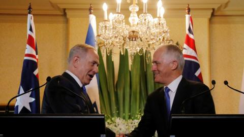 Israeli PM on historic visit to Australia