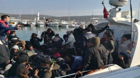 Over 3,000 irregular migrants held across Turkey