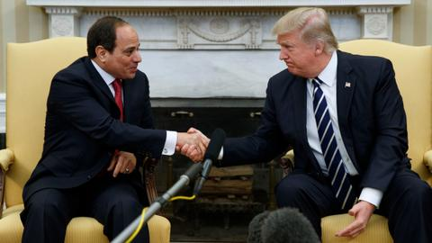 Is Sisi visiting the US to seek Trump's blessing?