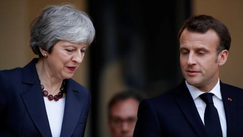 British PM Theresa May visits France and Germany to delay Brexit