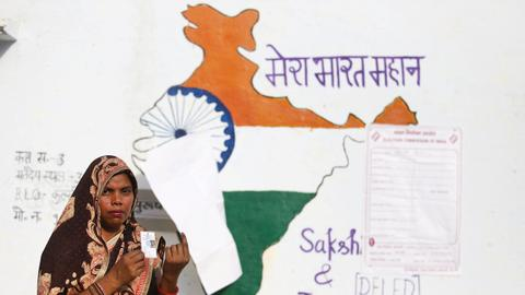 In pictures: Voting kicks off as India's Modi seeks re-election