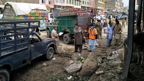 Bombing at open-air market in southwest Pakistan kills at least 16