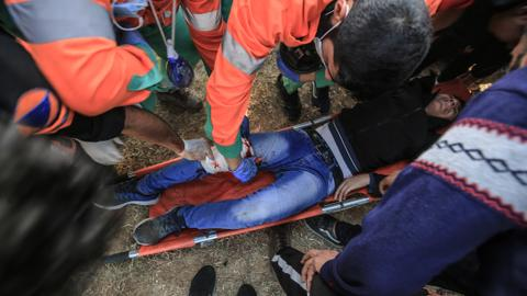 Gaza teen killed by Israeli fire at border protest