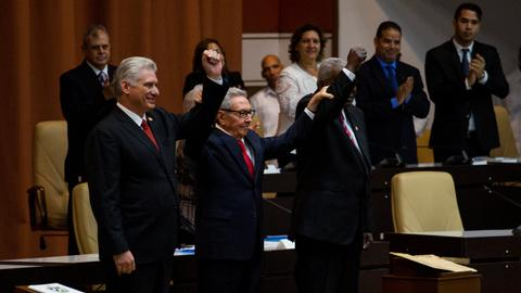 Cuban president calls for strengthened defences, economy