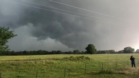 Tornadoes kill two children as massive storm sweeps US South