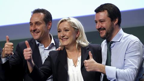 Le Pen drops 'Frexit' in favour of an 'EU of the far-right'