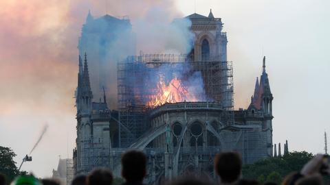 Massive fire engulfs Notre-Dame Cathedral